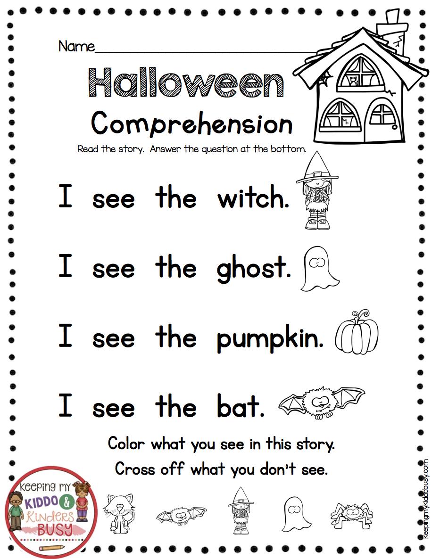Fall Kindergarten Reading Passages - Practice Fluency Sight