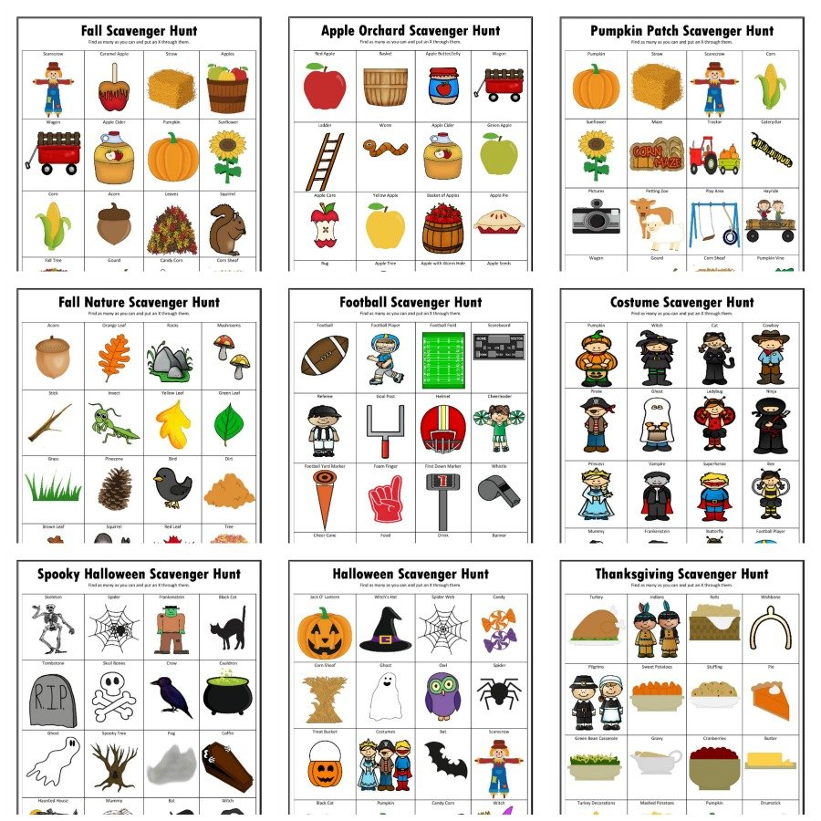 Fall Scavenger Hunts {Free Printable} - The Resourceful Mama