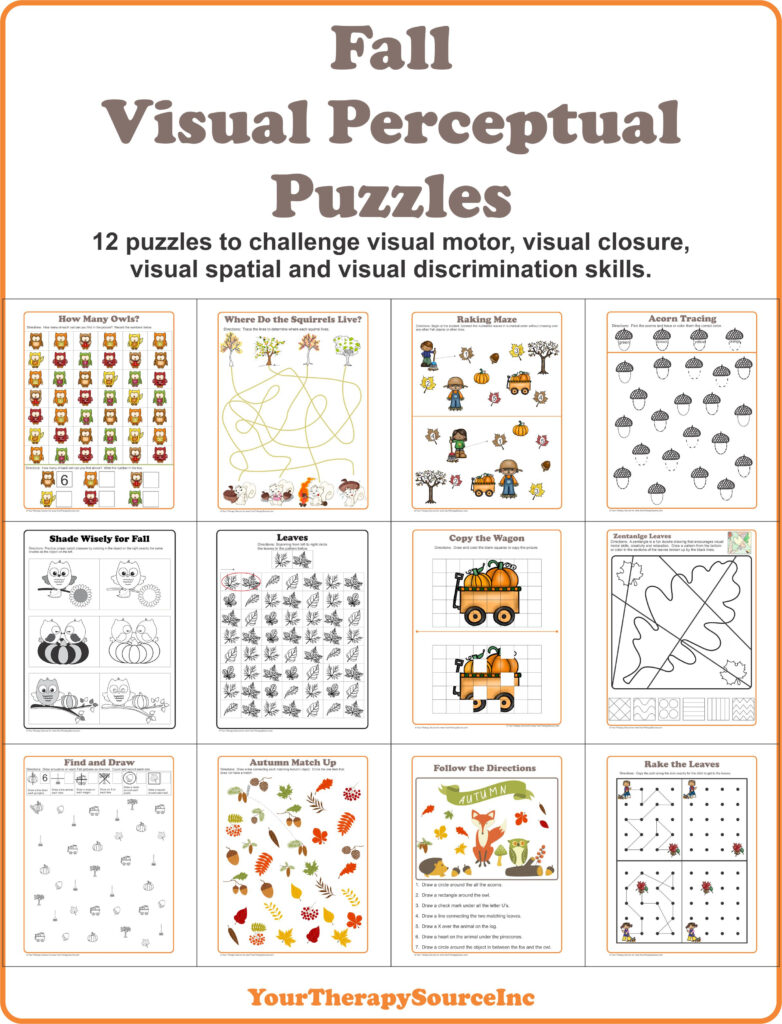 Fall Visual Perceptual Puzzles