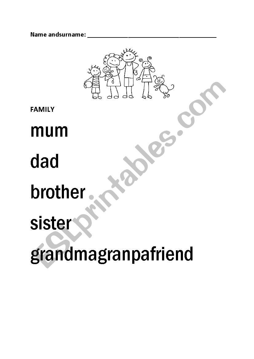 Family Members Tracing - Esl Worksheetbujucan
