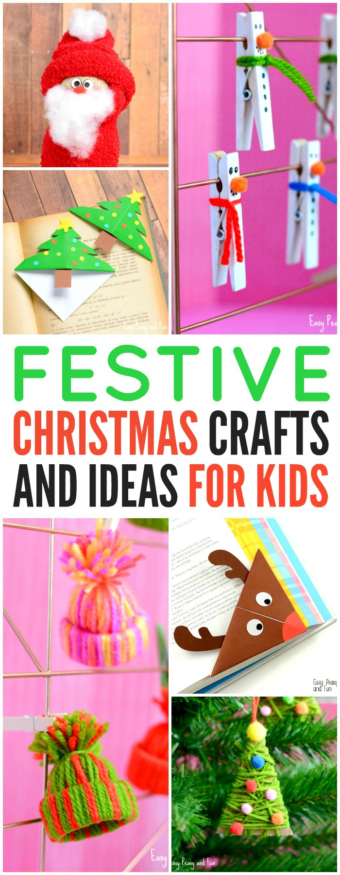 Festive Christmas Crafts For Kids - Tons Of Art And Crafting