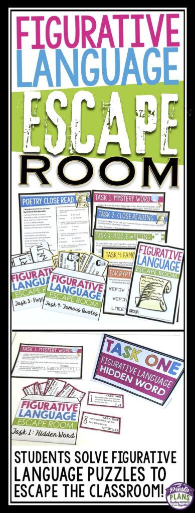Figurative Language Escape Room Activity | Teaching