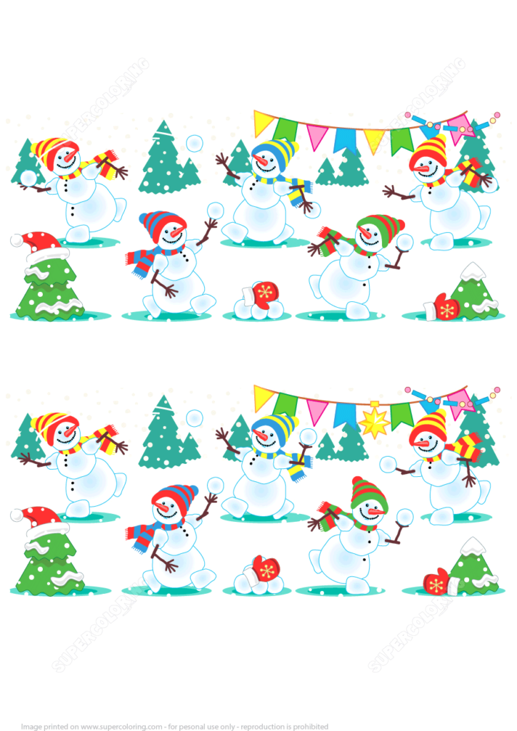 Find 10 Differences In A Christmas Visual Puzzle With