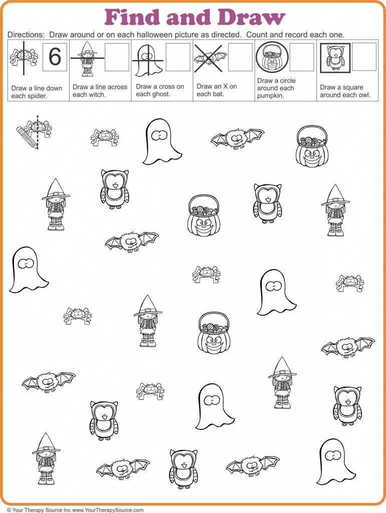 Find And Draw Visual Motor Activity For Halloween - Your