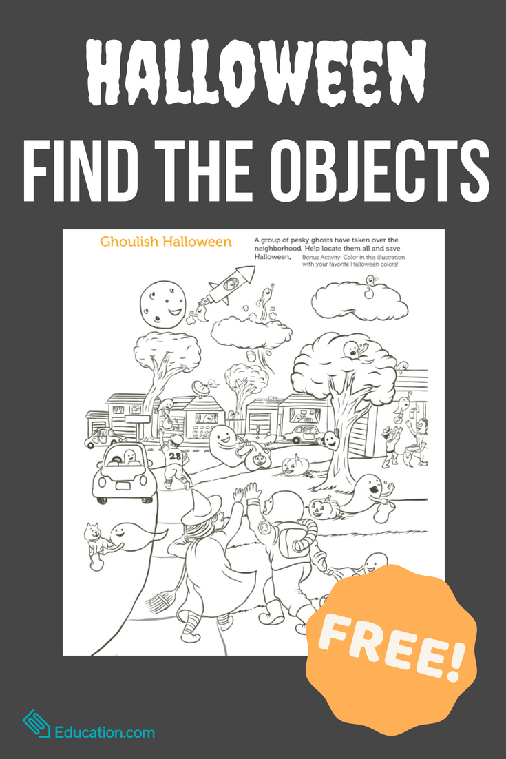 Find The Objects: Halloween   Worksheet   Education