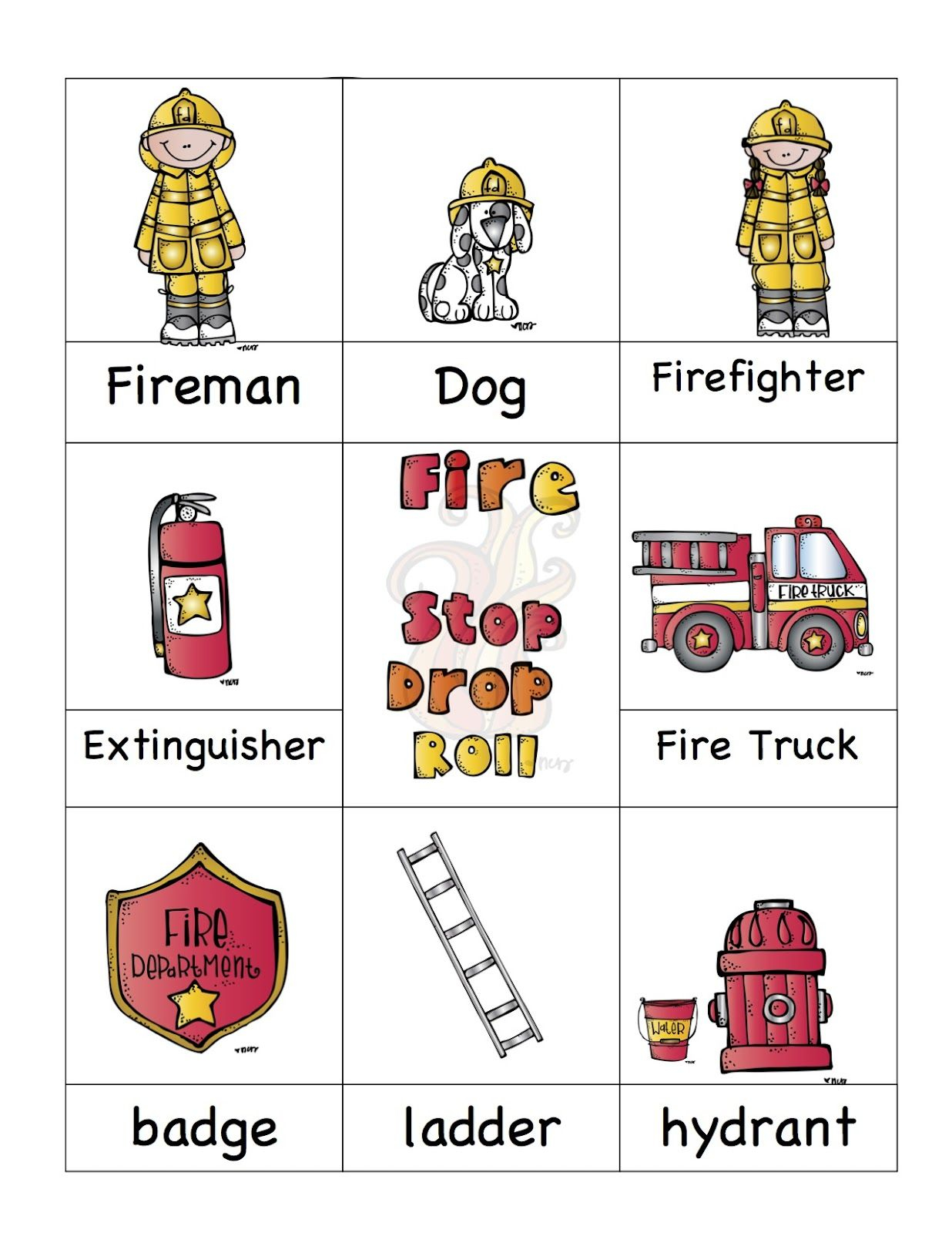 Fire Safety Printable. Also Has Great Halloween Stuff Up Too