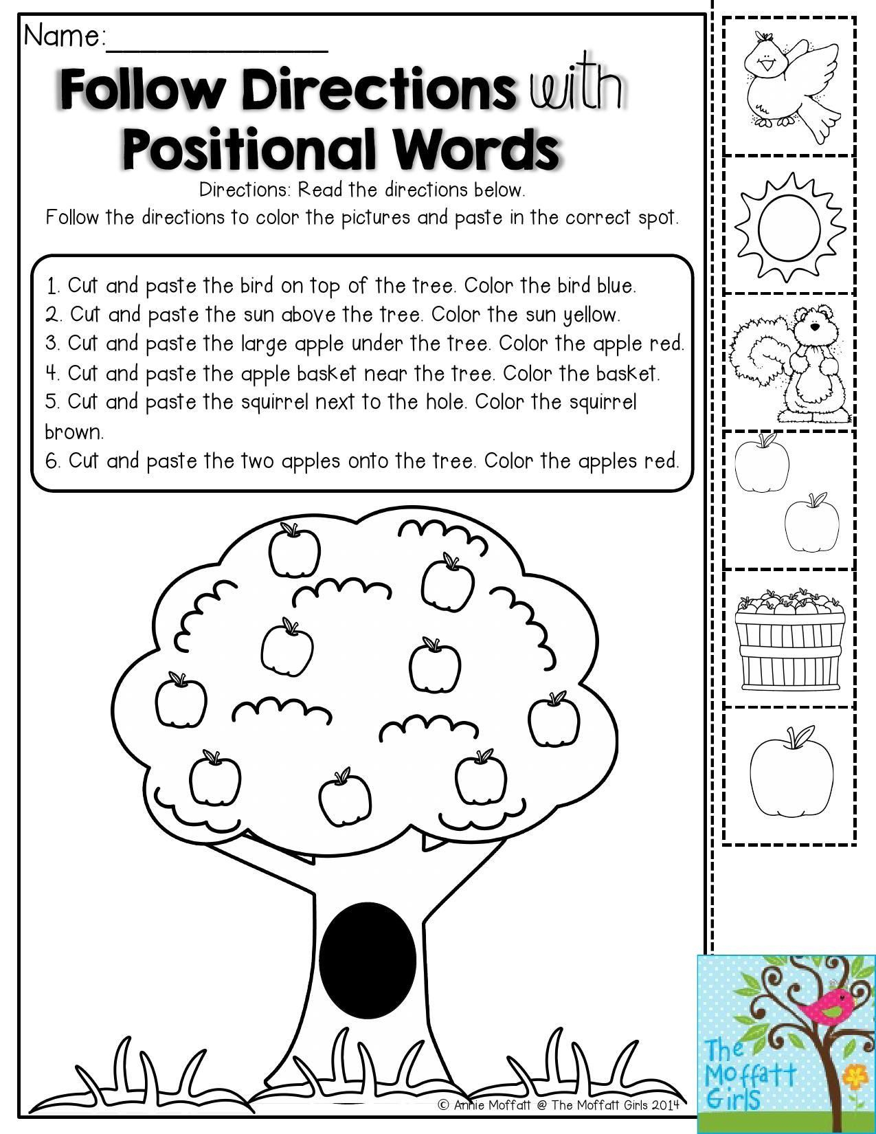 Follow Directions Worksheet Kindergarten In 2020   Follow