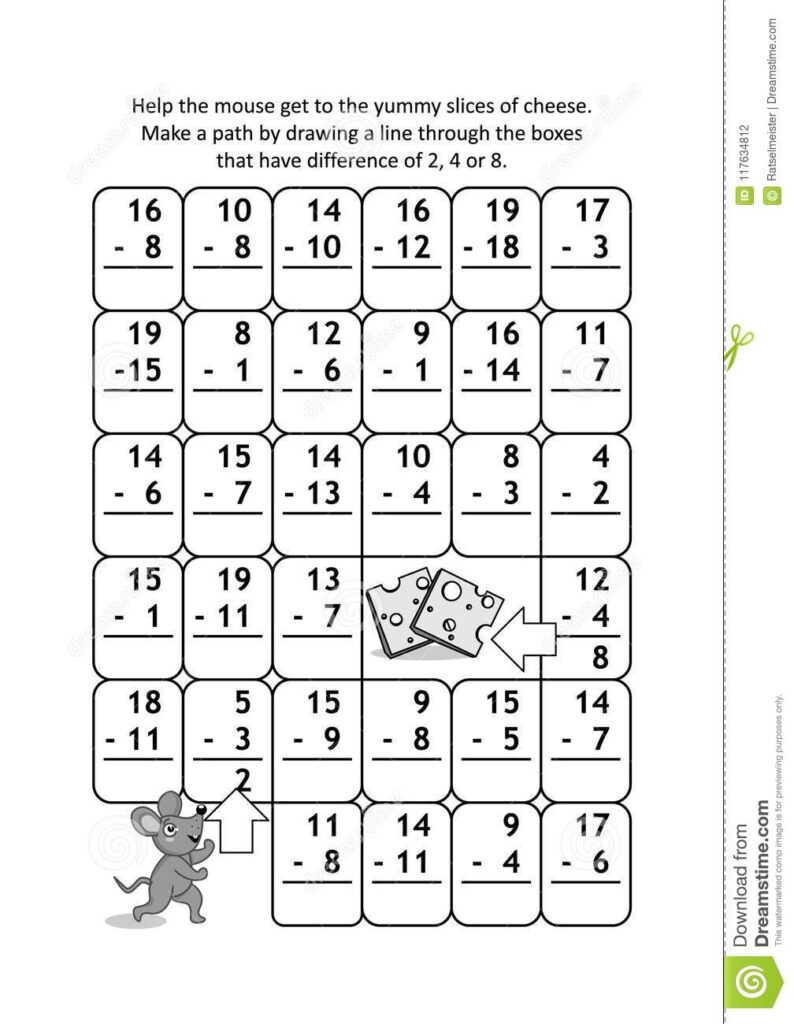 Fractions Test Worksheet Math Logic Worksheets High School