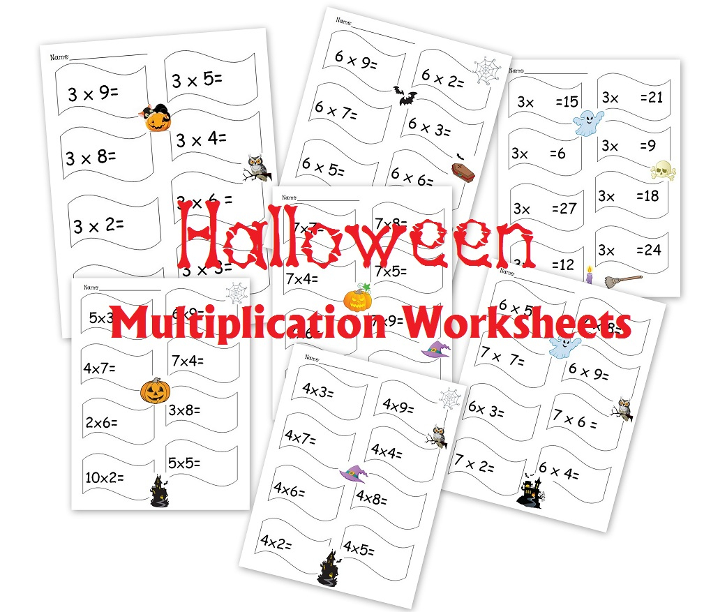 Free 30-Page Halloween Multiplication Packet: Math