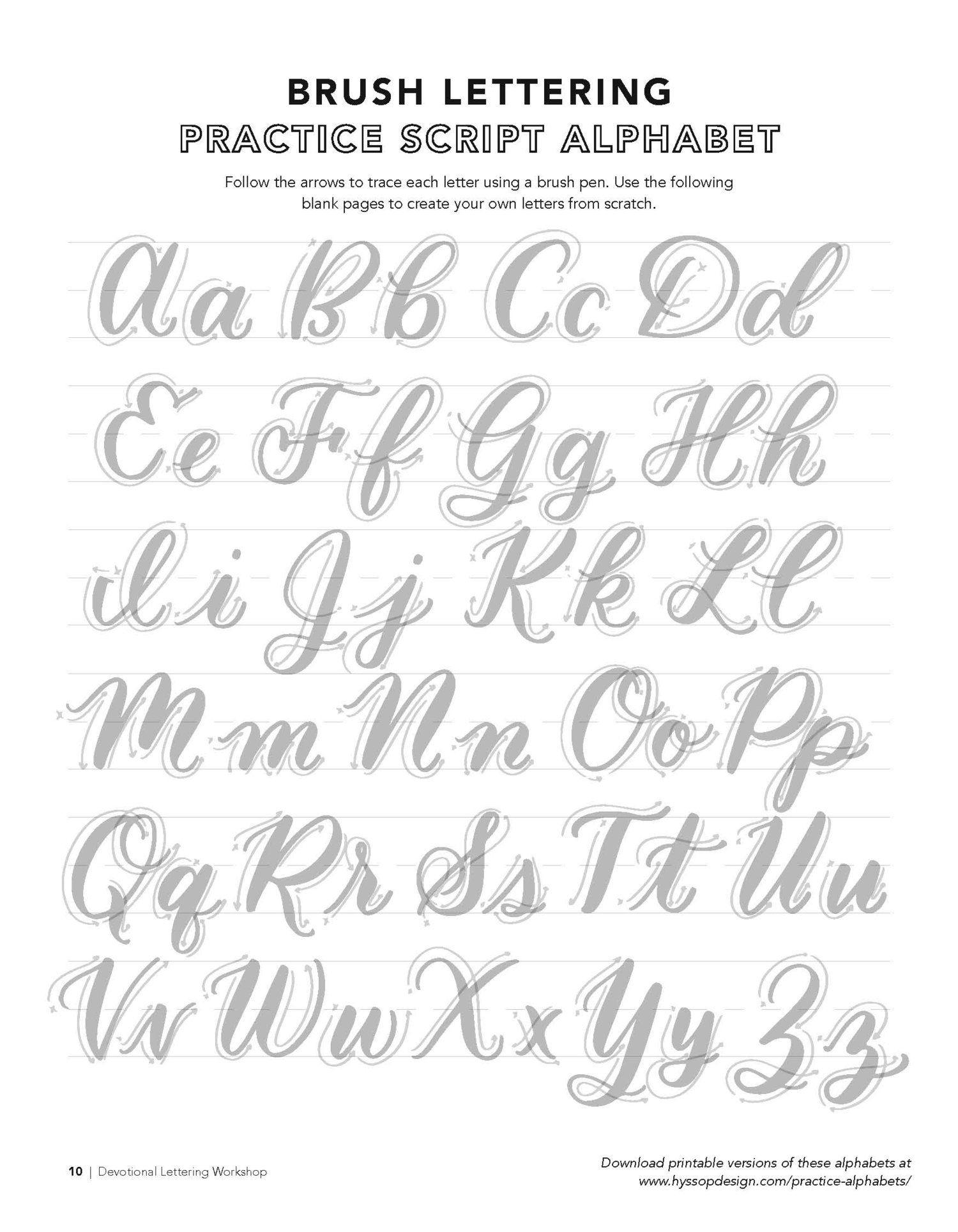 Free Calligraphy Alphabets Jacy Corral Hyssop Design Brush