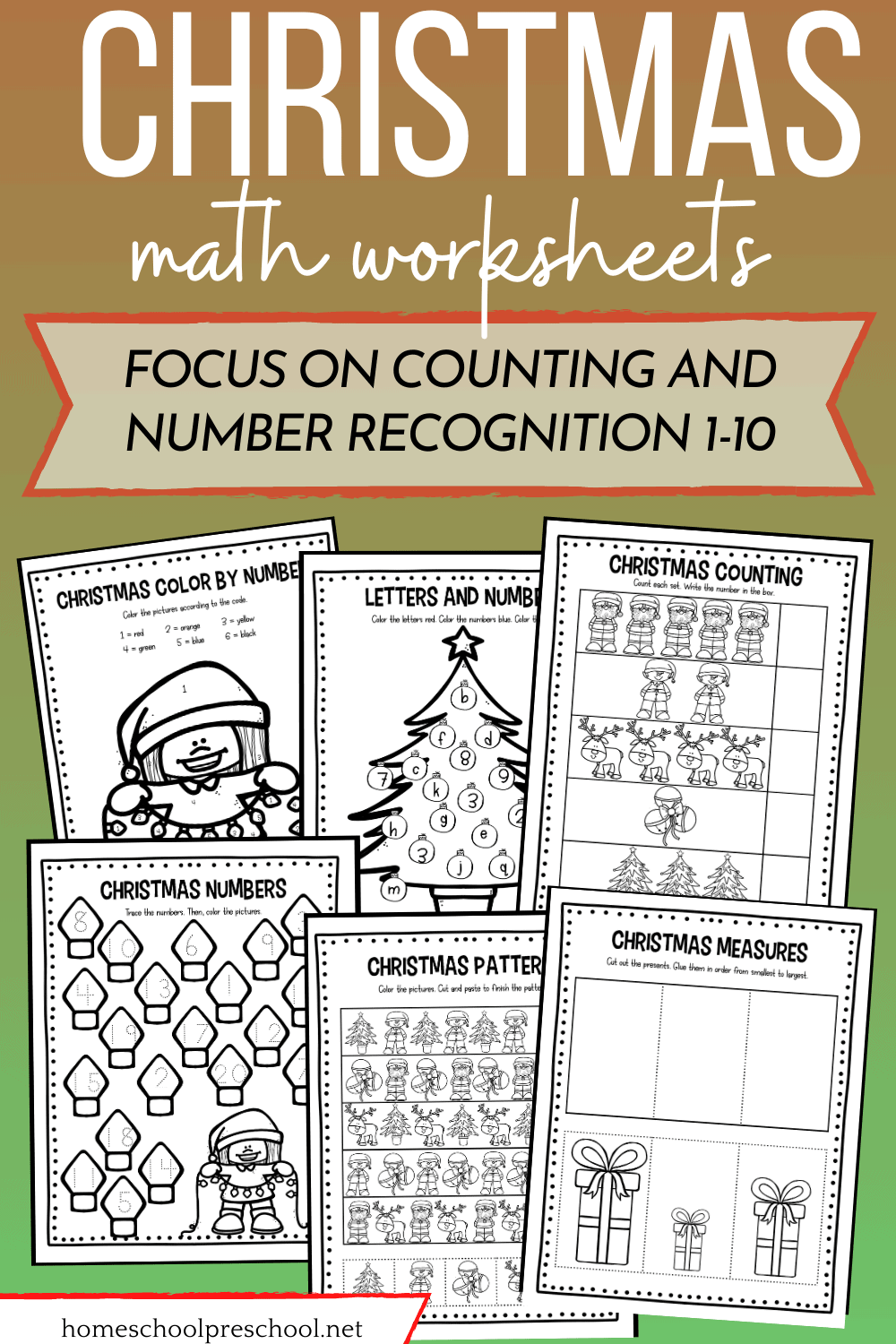 Free Christmas Math Worksheets For Preschoolers