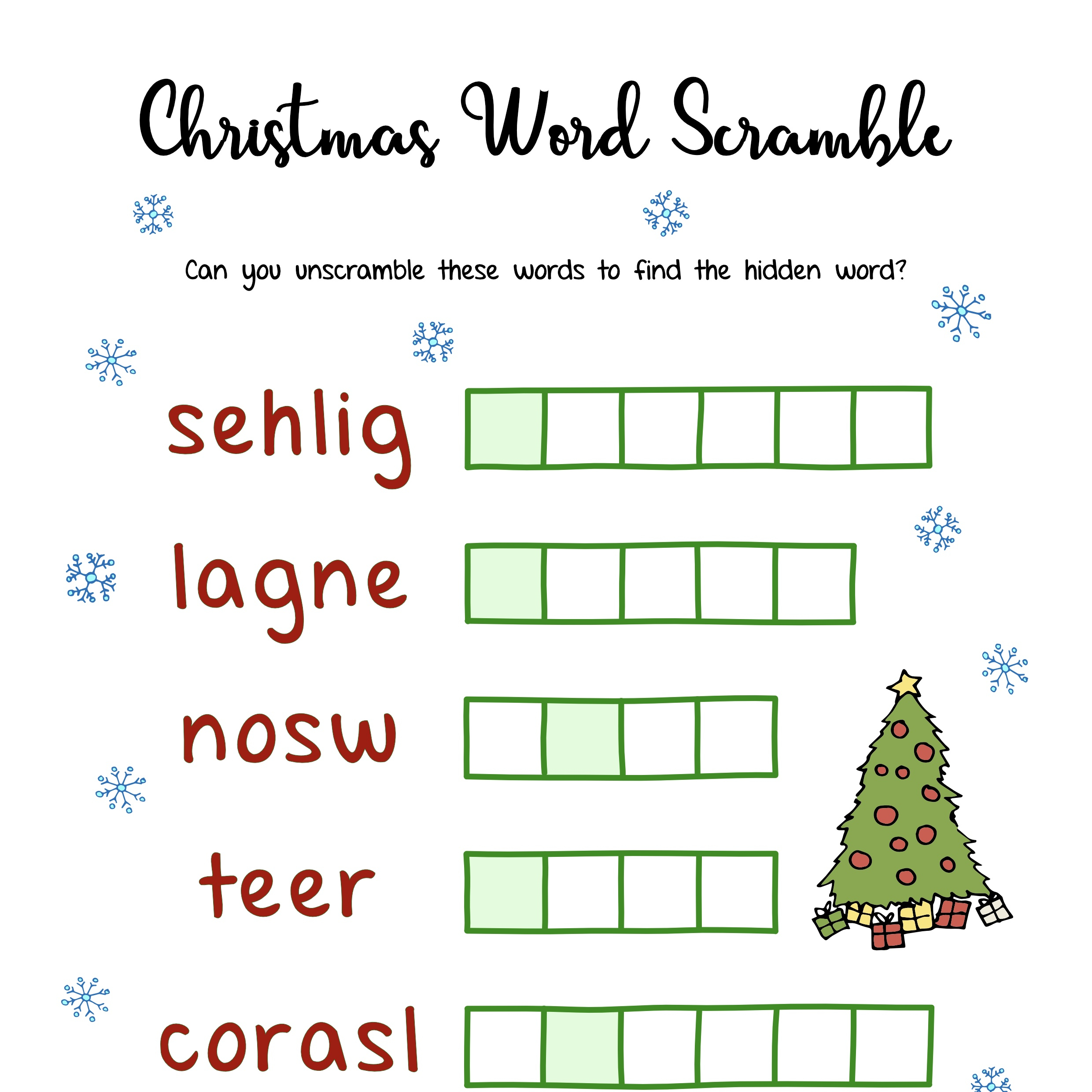 Free Christmas Printables – Puzzles | Mama Geek