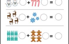 Christmas Addition Worksheets Prek