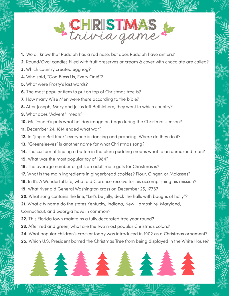 Free Christmas Trivia Game | Lil' Luna