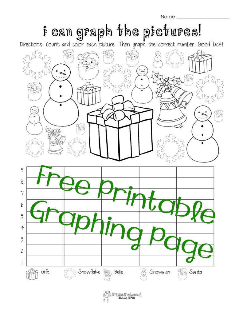 Free Christmas Winter Graphing Worksheet Kindergarten First