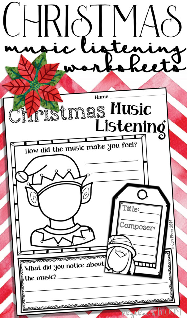 Free Christmas & Winter Holiday Music Listening Worksheets