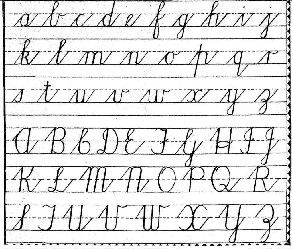 Free Cursive Handwriting Charts   Teaching Cursive, Cursive