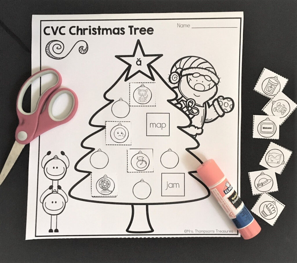 Free Cvc Christmas Trees   Mrs. Thompson's Treasures