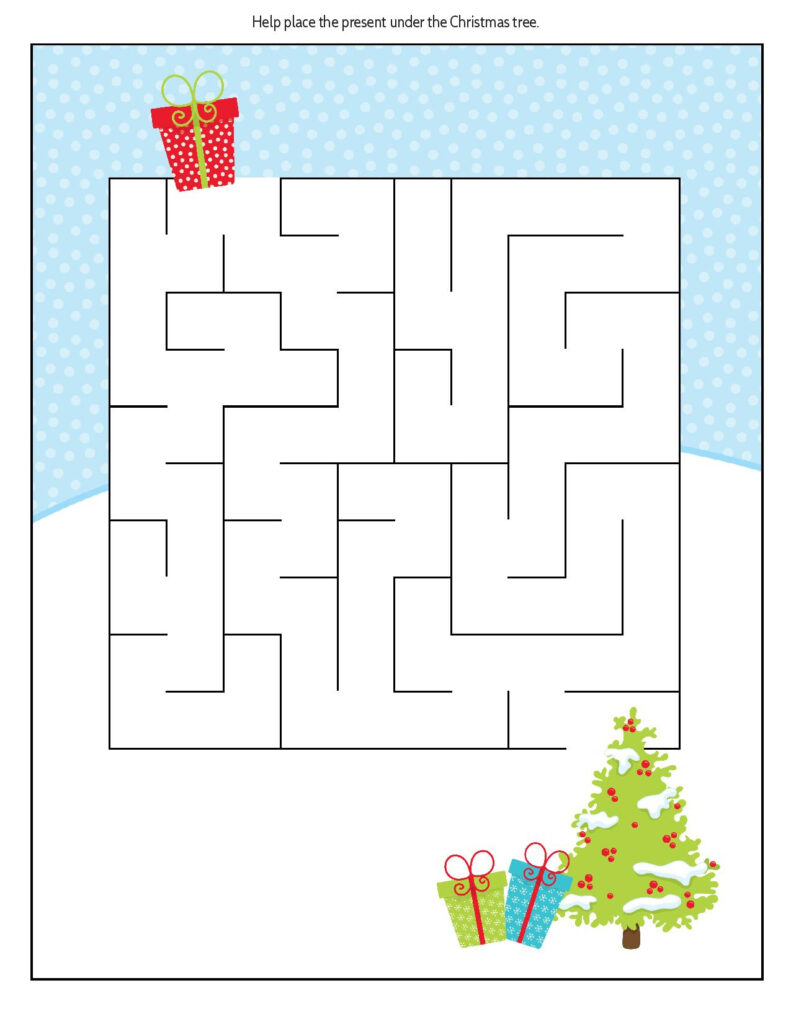 Free Educational Printable Christmas Puzzle Pack   Real And