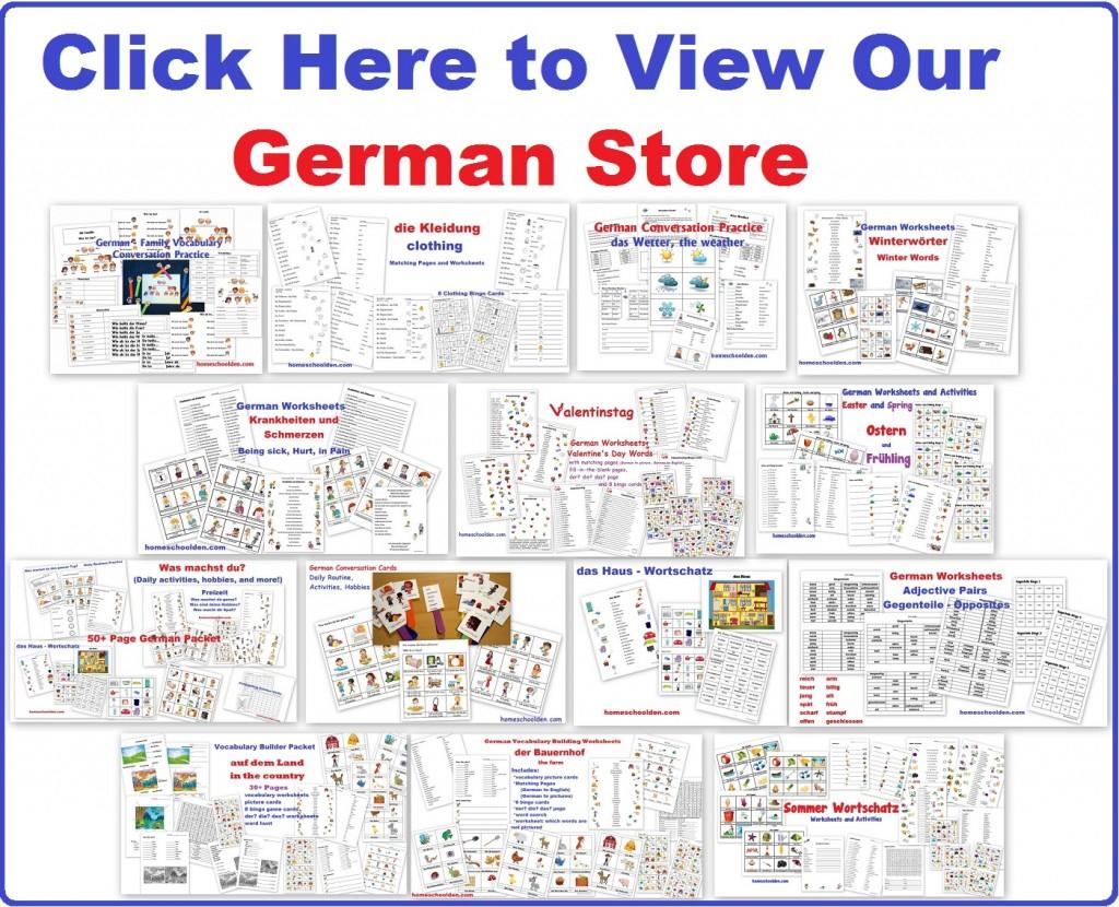 Free German Worksheets For Kids - Homeschool Den