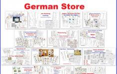 German High School Halloween Worksheet