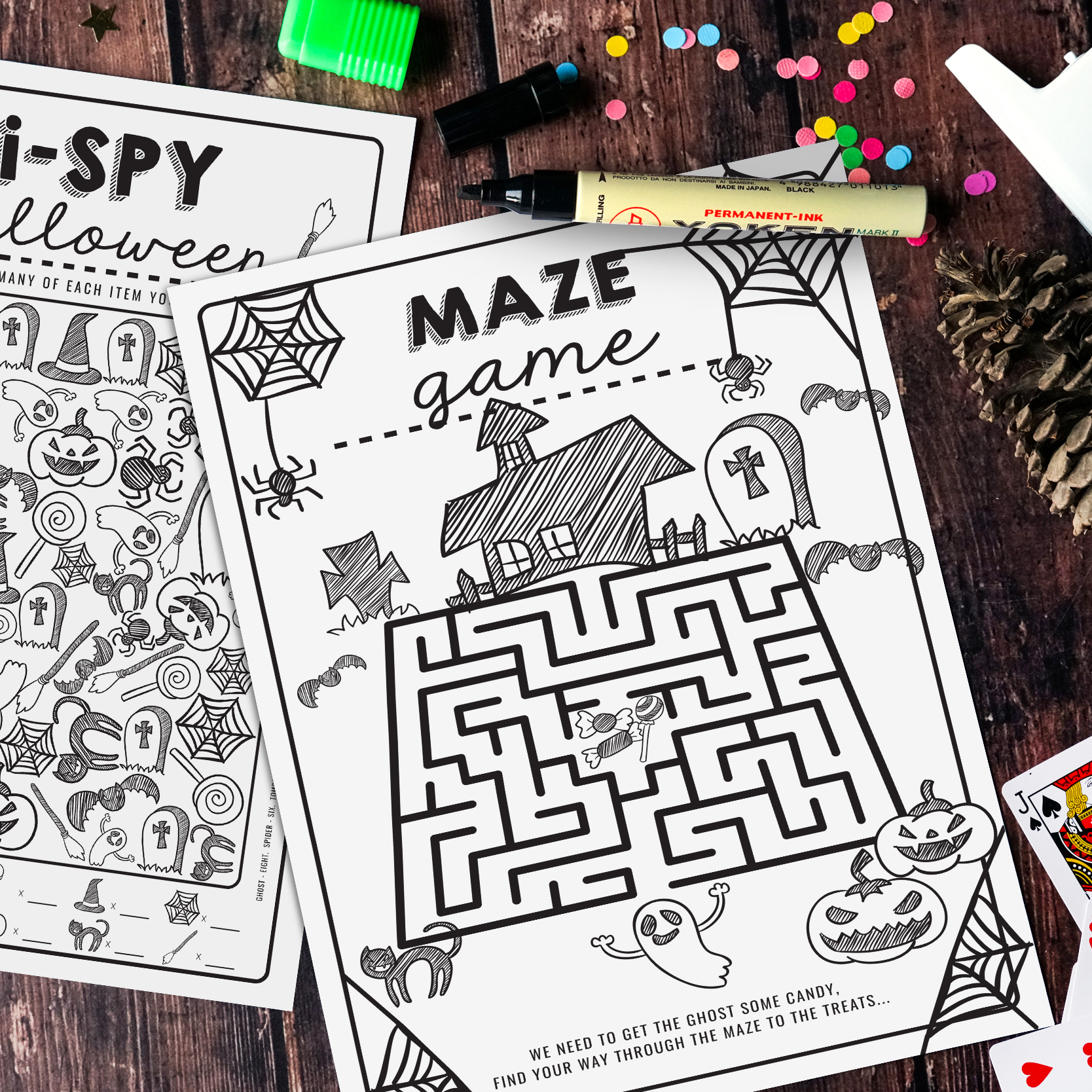 Free Halloween Activity Sheets Spy Maze Ghosts Worksheets