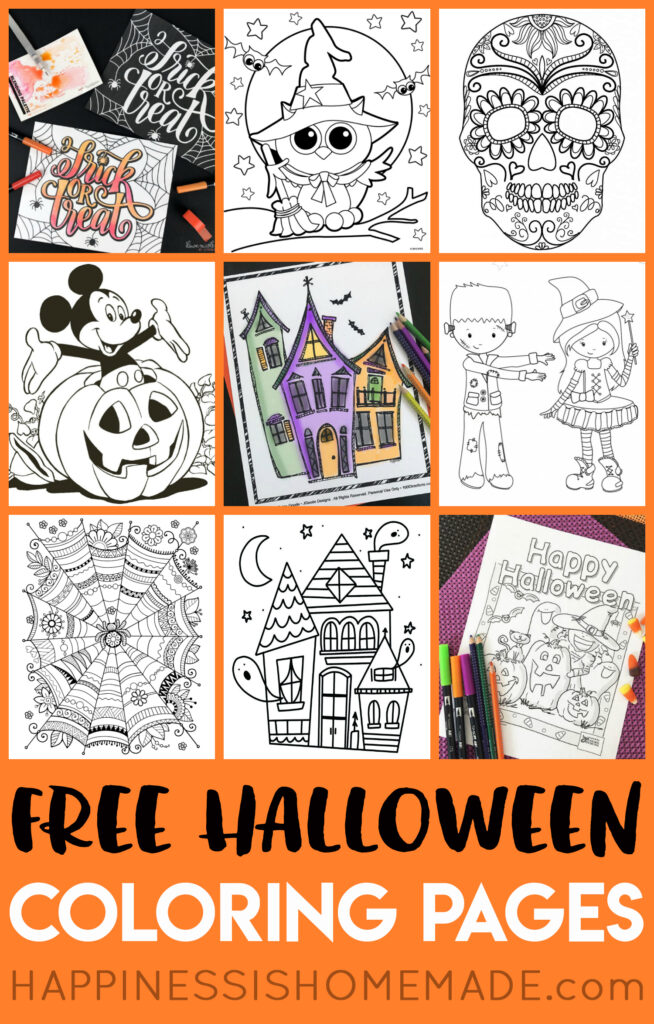 Free Halloween Coloring Pages For Adults & Kids   Happiness