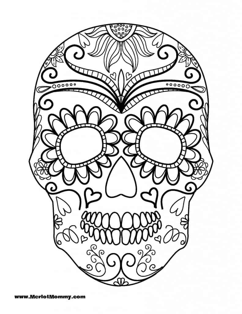 Free Halloween Coloring Pages For Adults & Kids - Happiness