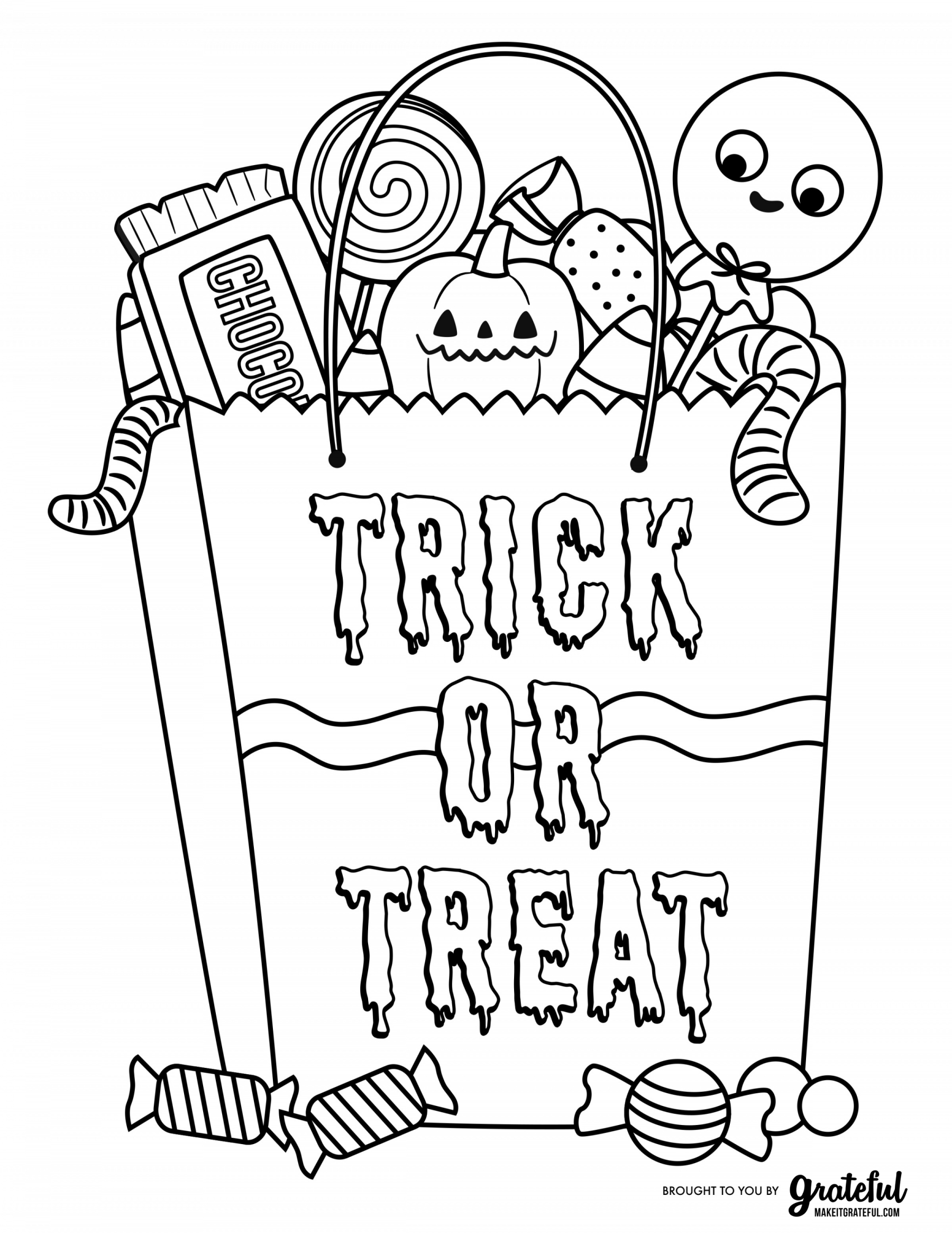 Free Halloween Coloring Pages For Kids To Print Christmas