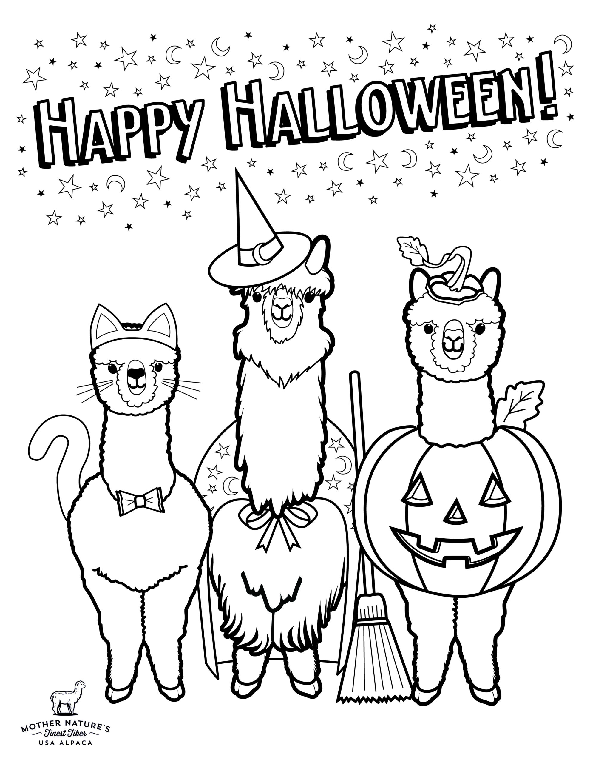 Free Halloween Coloring Pictures Pages New Downloadable