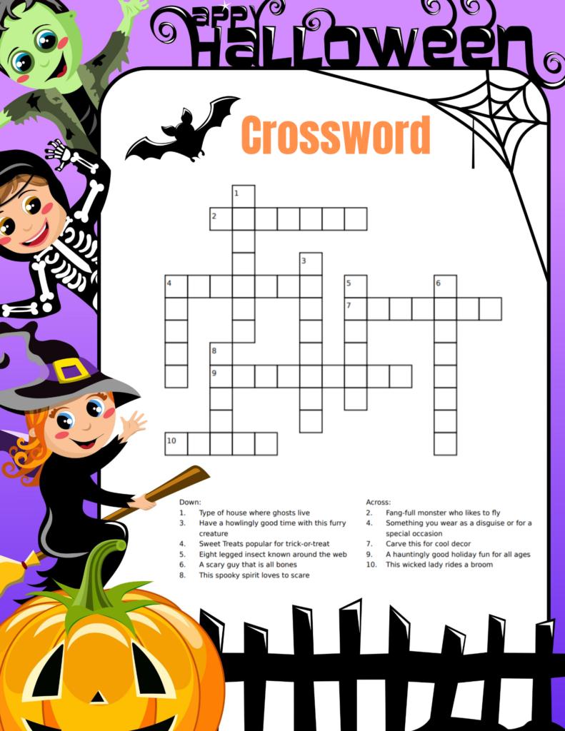 Free Halloween Crossword Printable For Kids