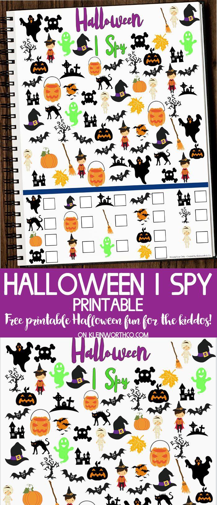 Free Halloween I Spy Printable - Fun Printable To Get The