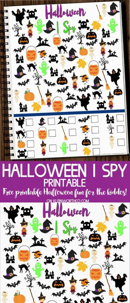 Free Halloween I Spy Printable   Fun Printable To Get The