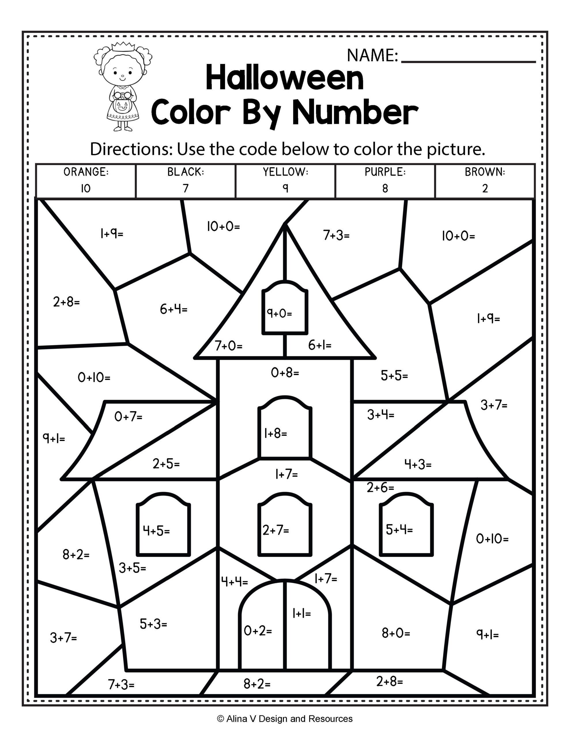 Free Halloween Math Worksheets | Halloween Activities