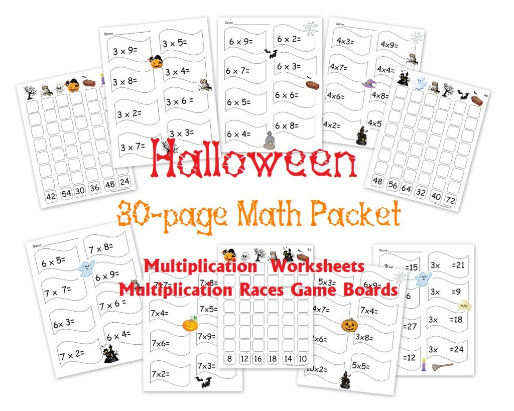 Free Halloween Multiplication Packet Math Worksheets And