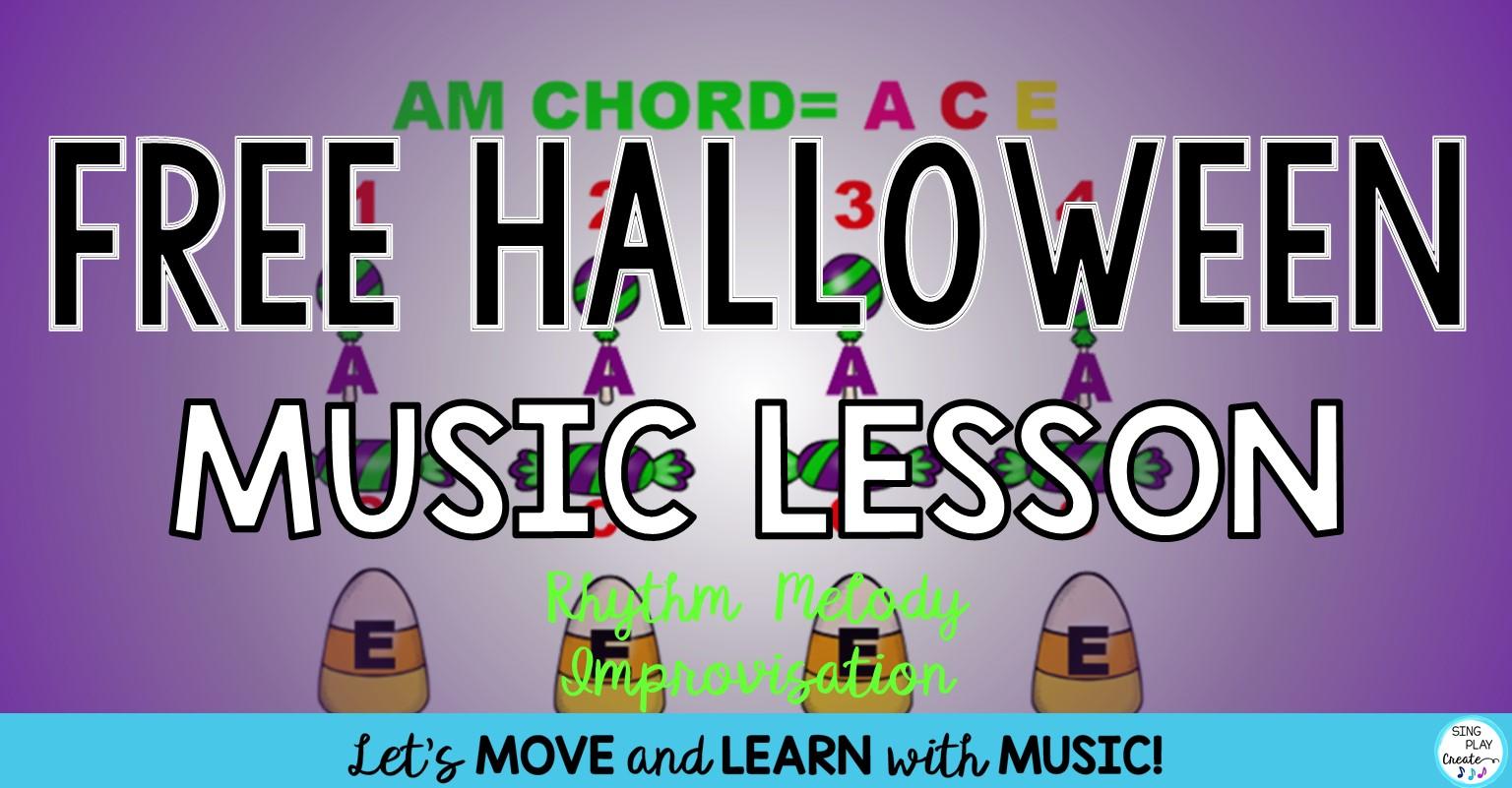 Free Halloween Orff Music Lesson