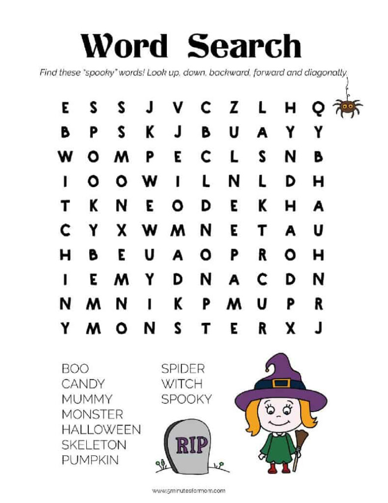 Free Halloween Printables   Your Kids Will Love These   5