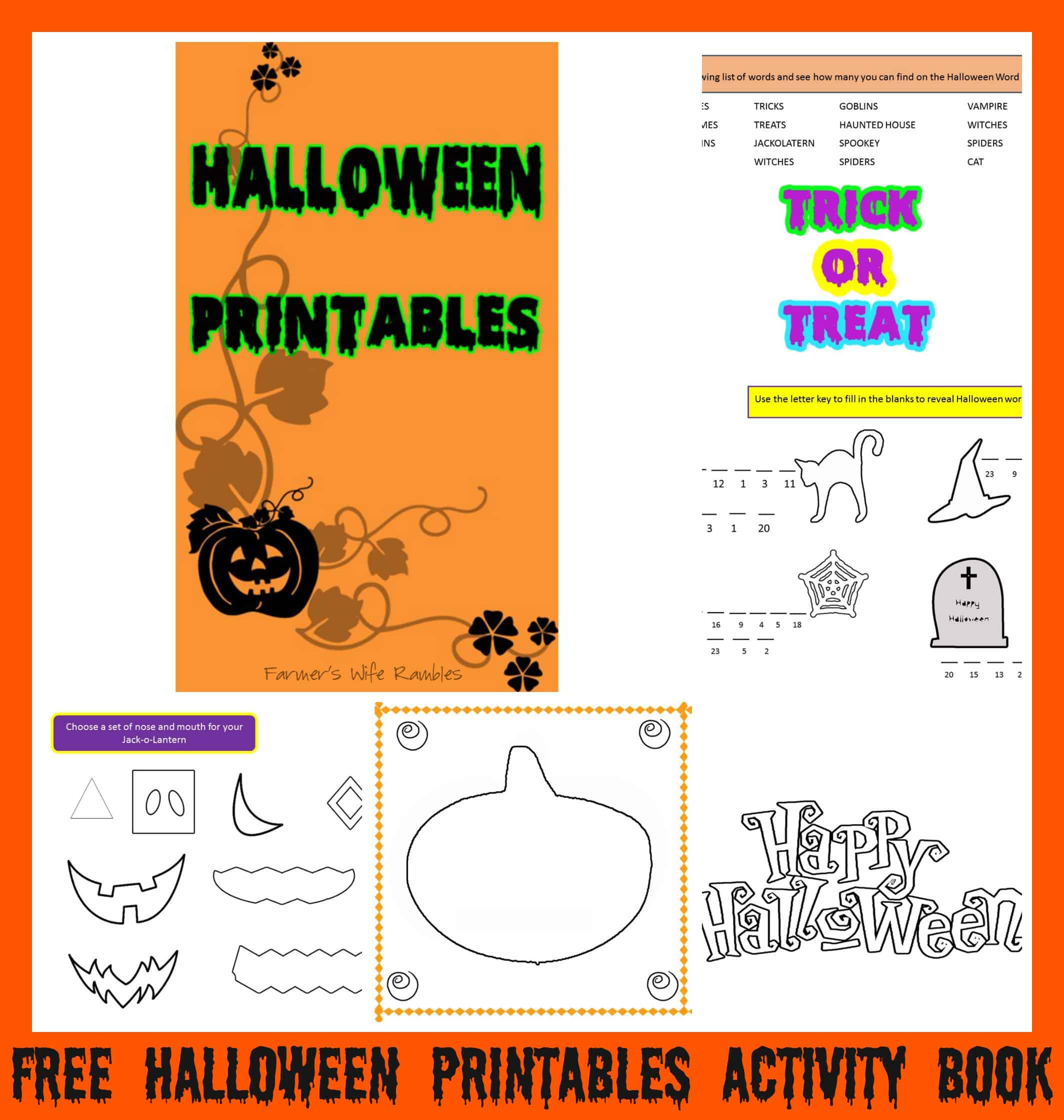 Free Halloween Safety Tips Printable - Farmer's Wife Rambles