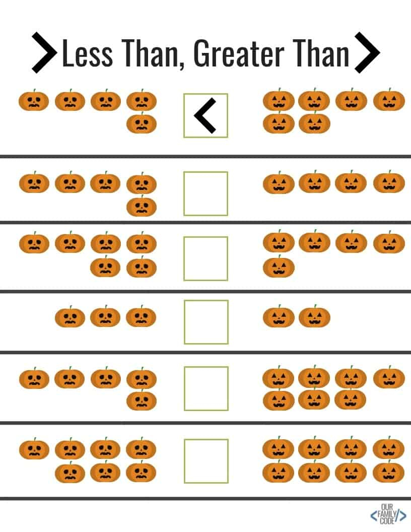 Free Halloween Worksheets For Kids! | Our Family Code