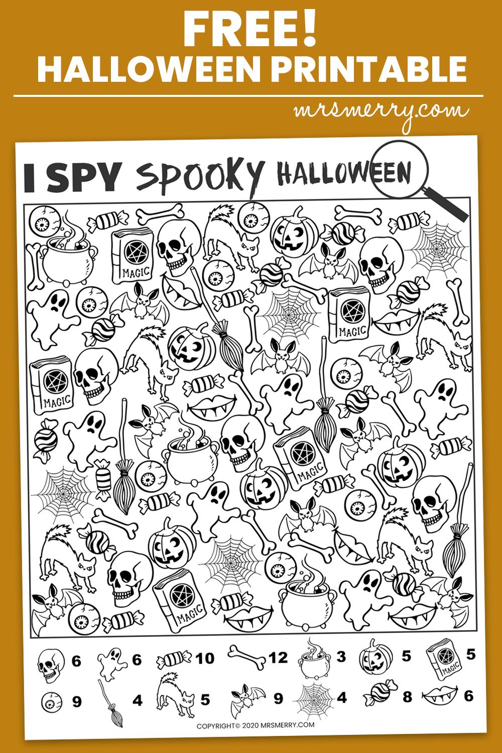 Free I Spy Halloween Printable - Spooky Halloween Activity