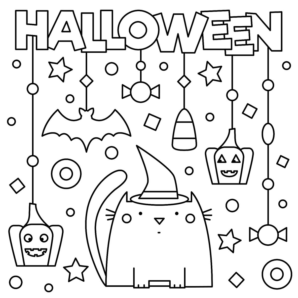 Free Kids Halloweenoloring Pages For To Worksheets