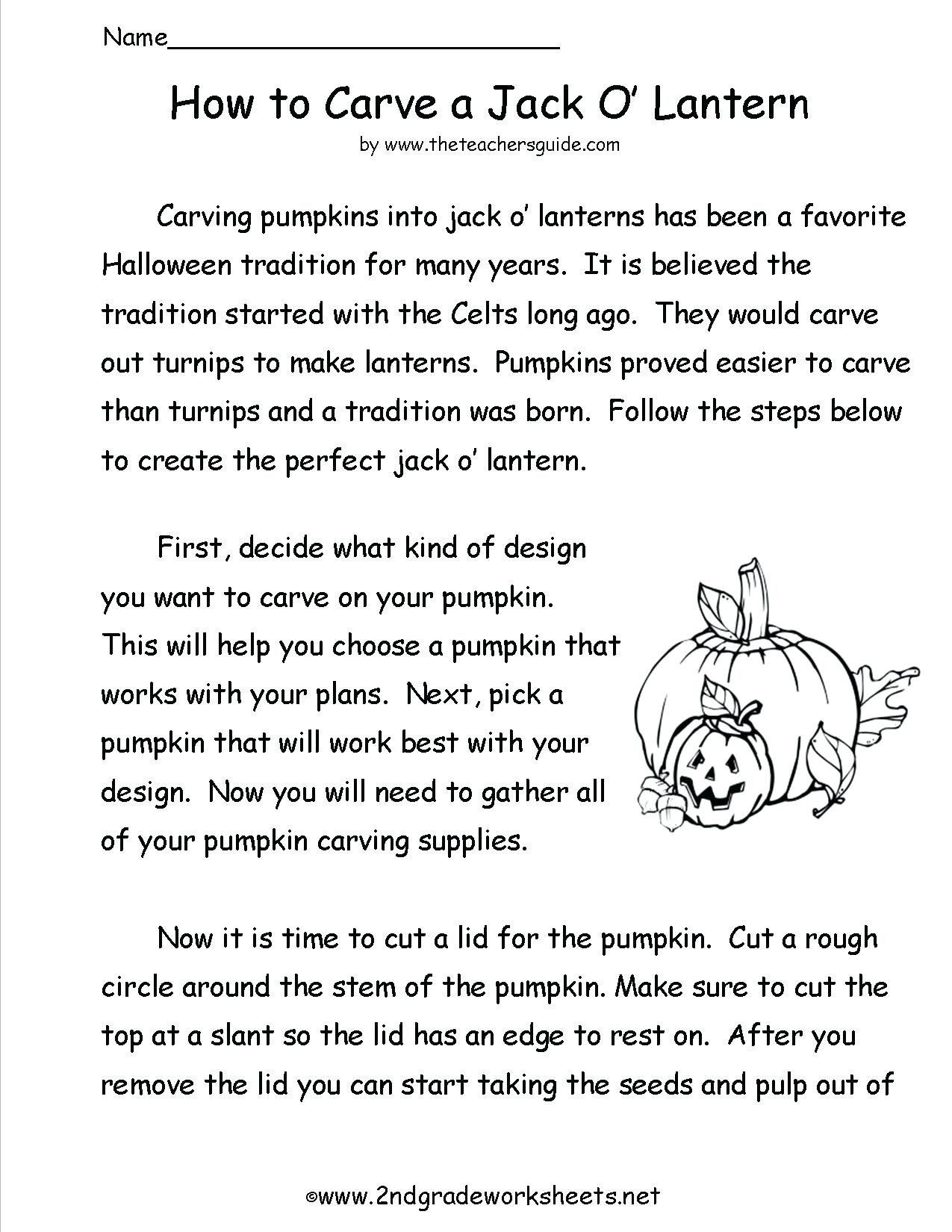 Free Kindergarten Halloween Worksheets Printable 3Rd Grade