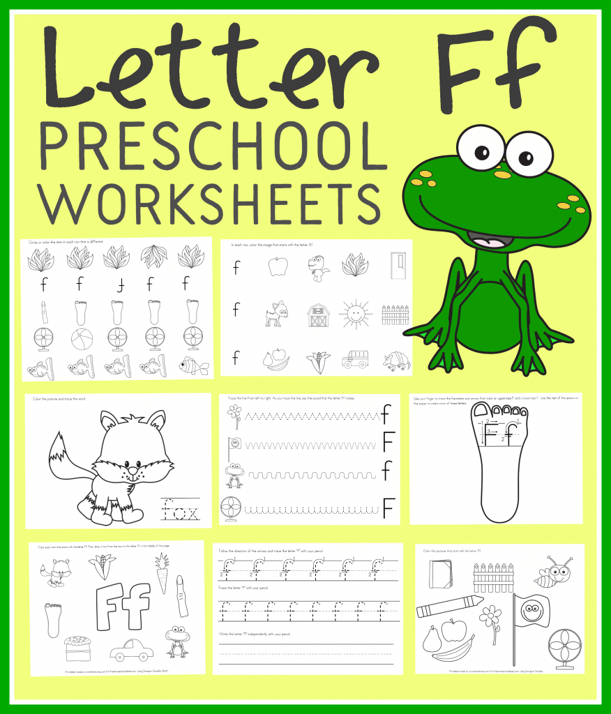 Free Letter F Preschool Worksheets (Instant Download) intended for Letter F Worksheets For Preschool Pdf
