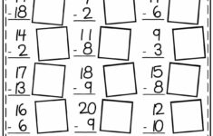 Free Math Worksheets First Grade Subtraction Single Digit