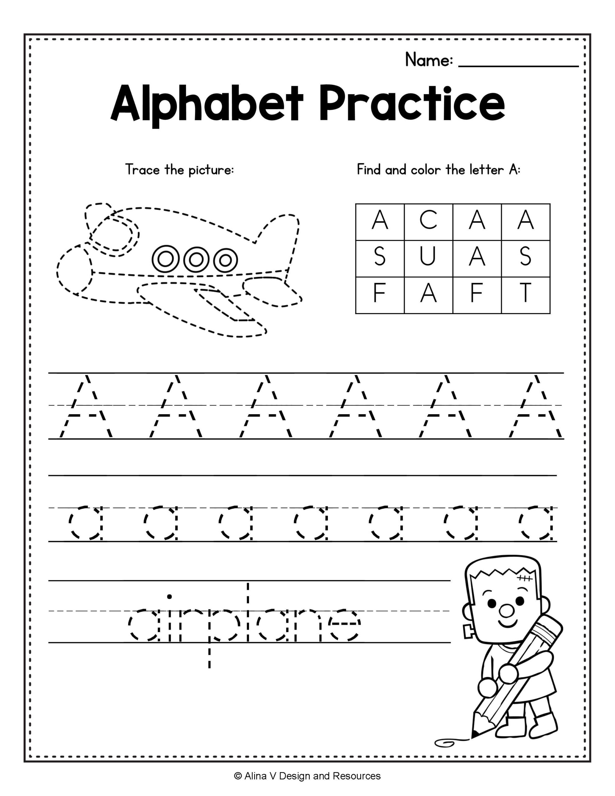 Free Printable Abc Tracing Worksheets In 2020 | Halloween