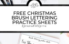 Free Printable Christmas Brush Lettering Practice Sheets