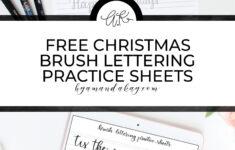 Christmas Calligraphy Worksheets
