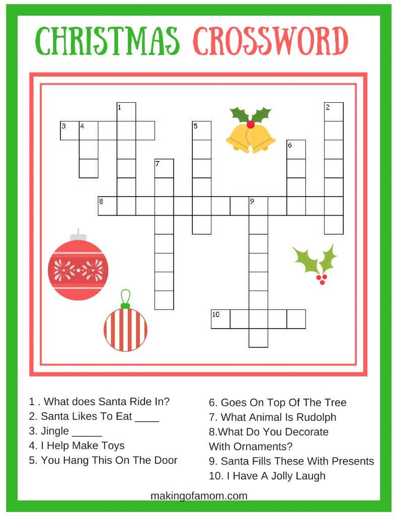 Free Printable Christmas Games - Making Of A Mom