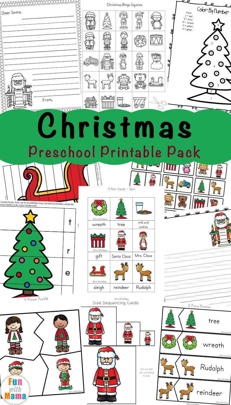 Free Printable Christmas Worksheets   Preschool Christmas