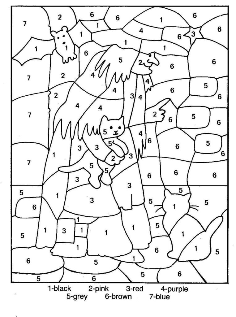 Free Printable Colornumber Coloring Pages   Best